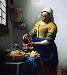 """vermeer """" the milk lady"""""""