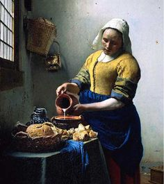 "vermeer "" the milk lady"""