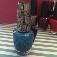 OPI Nail Lacquer Turquoise Shatter OPI Nail Lacquer Turquoise Shatter. Never used. CHECK MY CLOSET FOR ADDITIONAL AVAILABLE COLORS!! OPI Makeup