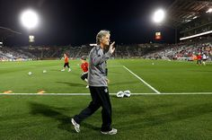 Pia Sundhage, at her last match as the U.S. national team manager.