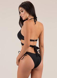 1f75ef47d0 X's And Oohs Strappy Bikini Set BLACK PURPLE BLUE - GoJane.com Bikini Set,