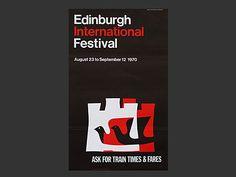 Edinburgh Festival 1970 poster by Hans Schleger and associates