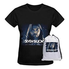 RXC Seven Lions The Throes of Winter Tour Cotton Fashion T Shirt for Womens Black - Brought to you by Avarsha.com