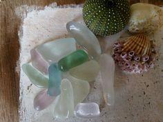 Beautiful pastel color  genuine sea glass. 12 pieces. To Color, Pastel Colors, Sea Glass, Green And Grey, Pink Purple, Creative, Handmade, Etsy, Beautiful