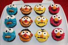 sesame st cupcakes.