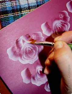 One Stroke Painting, Tole Painting, Acrylic Painting Tutorials, Acrylic Art, Drawing Sketches, Drawings, Rose Tutorial, Decoupage, Krishna Painting