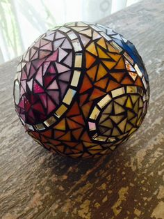 Surprisingly lightweight & Amazingly colorful--this sphere will add a splash of ART to your GARDEN! Makes a fabulous gift for the gardener or