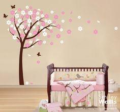 Arte de la pared calcomaníaBlooming cerezo y por smileywalls