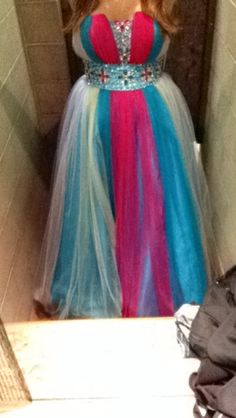 Multi color prom dress