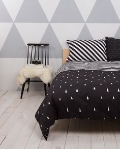 Helsinki Black - Duvet Covers & Pillowcases. Perfect nordic/minimalistic look