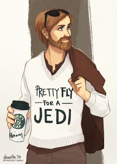 shorelle: Pretty Fly for a Jedi Obi-Wan. I want this to be a real sweater!!
