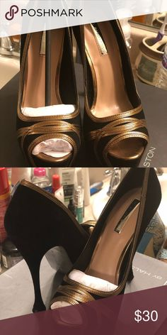 8a28bb47f51d40 Brand new Heels from H by Halston (new) Black Kid Suede. Size 7 Heels H by  Halston Shoes Heels