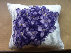 Purple Hydrangea Throw Pillow on Etsy, $40.00