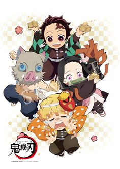 Pegatina «Tanjiro Squad - Demon Slayer: Kimetsu no Yaiba Otaku Anime, Manga Anime, Chibi Anime, Kawaii Chibi, Anime Demon, Anime Art, Demon Slayer, Slayer Anime, Anime Stickers