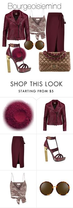 """Maroon Madness"" by bourgeoisiemind on Polyvore featuring Haute Hippie, River Island, Emilio Pucci, Zimmermann, Linda Farrow and Chanel"