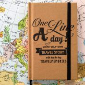 Reisdagboek 'One line a day' - write your own travel story
