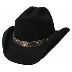"""From the Bullhide """"Lil' Pardner"""" collection: """"Sidekick."""" This Premium Wool Felt hat features a 3 brim and western crown. This hat features a weather hat band with star concho. Comes in Black. This is an official Bullhide Hats product. Kids Cowboy Hats, Cowgirl Hats, Western Hats, Kids Hats, Western Wear, Texas Gold, Rodeo Boots, Black Felt, Black Wool"""