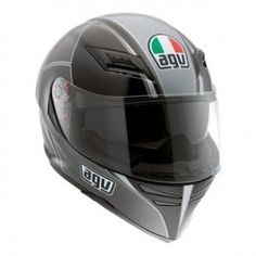 "AGV Skyline ""Block"" Graphic Helmet in Gunmetal/Black $359.95"