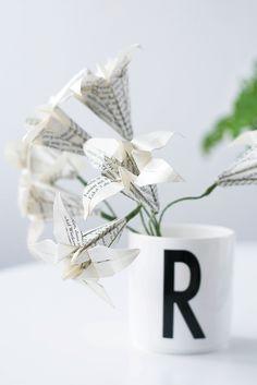 Papierblumen: Origami Lilien  falten - s i n n e n r a u s c h - mit link zum Videotutorial