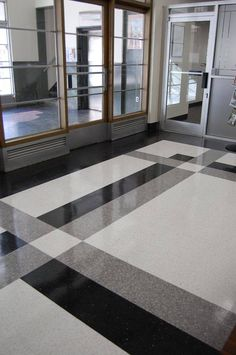The Asheville Citizen-Times in Asheville, NC selected Fritztile to add a pop of low maintenance, high style terrazzo tile to their office lobby. It turned out great! So many creative possibilities with one square foot of Fritz… Foyer Flooring, Granite Flooring, Best Flooring, Stone Flooring, Floor Design, Tile Design, House Design, Terrazzo Tile, Tile Floor