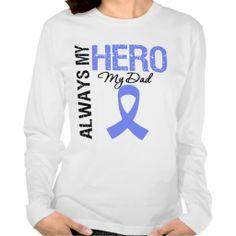 Esophageal Cancer Always My Hero My Dad Tee Shirts