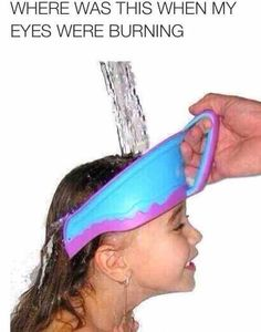 New Kids Bath Visor Hat,Adjustable Baby Shower Cap Protect Shampoo, Hair Wash Shield for Children Infant Splashguard Waterproof Really Funny Memes, Funny Relatable Memes, Stupid Funny, Funny Jokes, Hilarious, Funny Stuff, Funny Things, Baby Shower Cap, Bath Shower