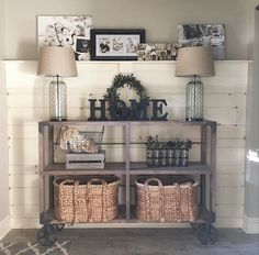 I have to do something like this with the shiplap we have left over! That wall is so cute