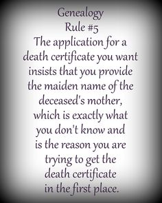 The application of the death certificate you want  requires the maiden name of  deceased's mother, which is exactly what you don't know and is the reason you are requesting the death certificate.