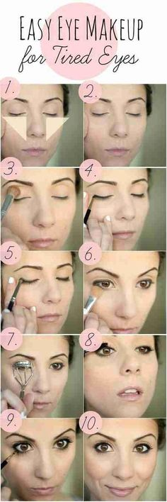 Makeup for tired eyes!