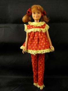 Skooter -Skipper's bestie in Woolly PJ's 1965. I have this doll with the original hair ribbons.