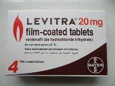 Model: Levitra 20mg 4 pills 1kits 200000 Units in Stock