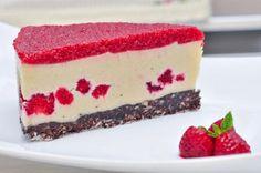 tort rawdia (15) Sweets Recipes, Desserts, Raw Vegan, Mai, Cheesecake, Tailgate Desserts, Deserts, Cheese Cakes, Postres