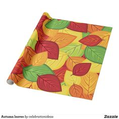 #zazzle Sold this #autumn #leaves #fallseason #wrappingpapers to KY.  Thanks for you who purchased this. Check more at www.zazzle.com/celebrationideas/autumn+leaves