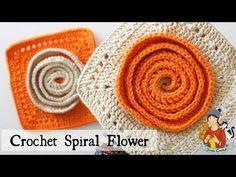 Crochet Squares Afghan, Crochet Square Patterns, Crochet Blocks, Crochet Motif, Crochet Hats, Granny Squares, Spiral Crochet, Love Crochet, Irish Crochet