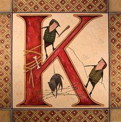 """illuminated """"K"""" by ciummi, via Flickr"""