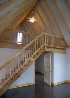 New apartment loft decor railings 59 Ideas - Modern Loft Railing, Loft Stairs, Railing Design, Railings, Cabin Loft, Tiny House Cabin, Pole Barn House Plans, Pole Barn Homes, Cabin Design