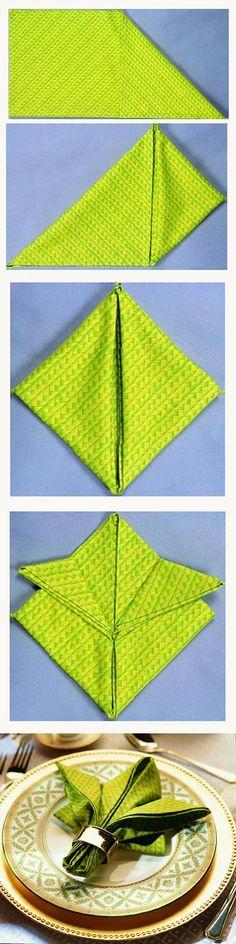 DIY Flower Napkin Fold