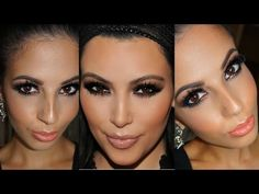 Kim Kardashian Black Out Smokey Eyes Makeup Tutorial - YouTube Makeup Tutorials Youtube, Video Tutorials, Smokey Eye Makeup Tutorial, Makeup For Blondes, Kim Kardashian, Eyes, Beauty, Black, Maquillaje