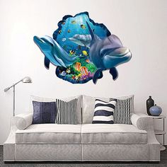 Children Wall Stickers Cartoon Shark DIY Theme Wallpaper/Gifts for Kids Room Decor Sticker Window Door Mural Wholesale Price history. Product ID: