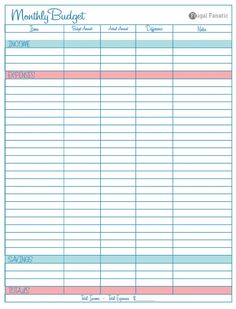 Need help saving money? Use this free blank monthly budget worksheet to help you find new ways to save money and cutback on your spending. Did I mention it's free!