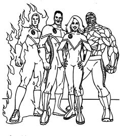 18 Best Fantastic Four Coloring Pages Images Coloring Pages For