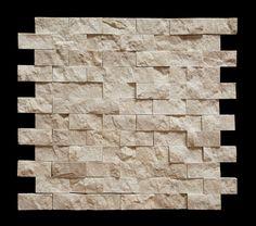 Botticino 1X2 Marble Split-Faced Mosaic Tile - Backsplash - Amazon.com