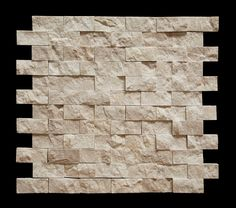 Botticino 1X2 Marble Split-Faced Mosaic Tile - Backsplash - Amazon.com