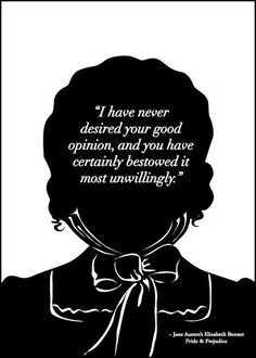 Jane Austen Print Elizabeth Bennet Good Opinion by 10cameliaway. $13.00, via Etsy.