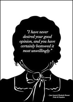 Elizabeth Bennet, Pride & Prejudice (by 10cameliaway via etsy)