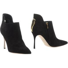 Sergio Rossi Shoe Boots (900 NZD) ❤ liked on Polyvore featuring shoes, boots, ankle booties, black, sergio rossi boots, black zip boots, sergio rossi booties, leather boots and leather sole boots
