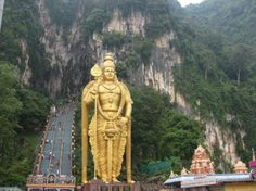 The Batu Caves in Malaysia + http://thingstodo.viator.com/malaysia/spectacular-spelunking-in-malaysia/