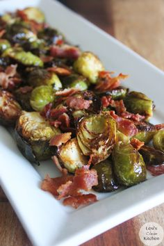 Maple Roasted Brussels Sprouts | Lexiscleankitchen.com - use honey to replace the maple syrup