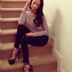 Draya In Louboutin. I want these shoes badlyyy