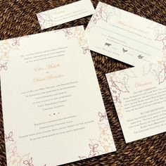 A Walk in the Garden Custom Color Wedding Invitations